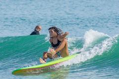 Surfing Playalinda.   Oops!