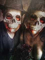 Til' Death Do Us Part (Kat McClelland) Tags: skull human love man woman gothic darkart