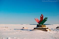 AUR_6323s (savillent) Tags: trans canada trail marker tuktoyaktuk northwest territories snow winter landscape travel march 2017