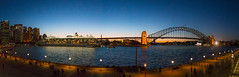 Sydney Harbour panorama (Janet Marshall LRPS) Tags: sydneyharbourbridge thecoathanger panorama sydney nsw quayside highiso handheld