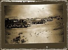vehicle compound (Leonard J Matthews) Tags: ww2 worldwar2 aif australianimperialforce vehicles compound northafrica