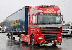 DAF XF Lewis Transport CurtainBox JWL87W Damp Frank Hilton IMG_5144 (Frank Hilton.) Tags: classic truck lorry eight wheel maudsley aec atkinson albion leyalnd bristol austin outside heavy haulage crane 8 axle