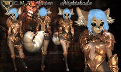 EC-Lutea Nightshade Black&Bronze Kemono (EC-Eleran's Craft) Tags: ec crafts armor outfit fantasy magic warrior knight wizard mage mesh 3d zbrush substance painter sl secondlife gacha fgc armory kemono furry neko