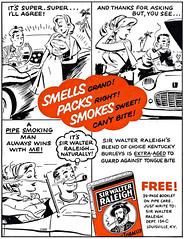 1957 Sir Walter Raleigh pipe tobacco ad (Tom Simpson) Tags: 1957 sirwalterraleigh pipe tobacco ad 1950s cartoon comics illustration vintage ads advertising advertisement vintagead vintageads