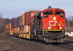 Telesmash, Q148 (Joseph Bishop) Tags: cn 8824 emd sd70m2 cndundassubdivision brantford trains train track tracks railfan railroad railway rail rails