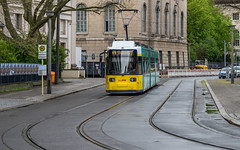Called into action? (neil.bulman) Tags: tram germany wet damp easter berlin street