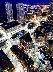 Boston At Night ((Jessica)) Tags: boston massachusetts customhousetower rooftops view a6000 alpha rokinon sonyalpha skyscrapers wideangle sonya6000 alpha6000 rokinon12mm city citylights downtown night newengland