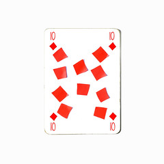 ten of diamonds (brescia, italy) (bloodybee) Tags: 365project playingcards cards play game 10 ten diamond patch stilllife white red square