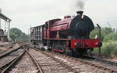 'SHROPSHIRE' in HEREFORDSHIRE (Malvern Firebrand) Tags: shropshire bulmers steam centre hereford 13681 giving brake van rides hunslet works number 3793 1953 war department no193 currently resident ribble railway under overhaul 060st exsvr railroad track cider gwr industrial tank engine