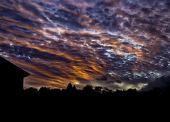 Dramatic ... Sunset (Julie Greg) Tags: canon5dm4 england yellow nature orange blue red trees dramatic sunset sky clouds colors