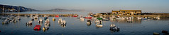 Golden hour at Lyme Regis (Ken Came) Tags: lymeregis dorset panorama harbour harbor coast landscape boats kencame nikon d7000 april goldenhour omot
