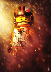 Poe Dameron (jezbags) Tags: lego legos toys toy star starwars wars legostarwars forceawakens minifigure minifigures macro macrophotography macrodreams macrolego canon60d canon 60d 100mm closeup upclose poe dameron yellow red fire firestorm flames sparks orange helmet rebels