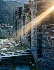 God Rays in Cwmorthin (ShrubMonkey (Julian Heritage)) Tags: sun rhosydd quarry cwmorthin slate disused derelict abandoned forgotten ruin ruined eerie landscape valley wales building secluded isolation mountains crepuscular godrays light