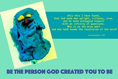 who are you? (Leonard J Matthews) Tags: god created whoareyou true upright virtuous entangle entangled mythoto australia oldtestament ecclesiastes729 question questions bible quote scripture betheperson