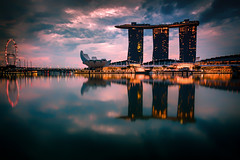 Singapore (sfabisuk) Tags: singapore marina bay sands sunrise city reflaction travel explore