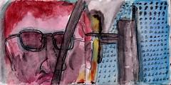 ob Sie vielleicht auch zur Münchner Freiheit fahren (raumoberbayern) Tags: sketchbook skizzenbuch tram munich münchen bus strasenbahn pencil bleistift ballpoint paper papier robbbilder stadt city landschaft landscape spring frühling summer sommer lake trip bavaria germany ubahn subway