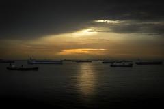 Nightfall (Askjell) Tags: maritime ocean offshore oilandgas ships singapore vessel anchor anchorage shipstagram
