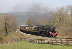 44806 at Esk Valley (TomNoble7) Tags: eskvalley exlms 44806 grosmont pickering moorlander nymr black5 locomotive steam train