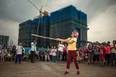 Games (NoCommonSense) Tags: phnom penh cambodia 2017 khmer new year people traditional games stadium construction flash