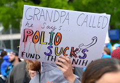 Grandpa called; he says polio sucks (afagen) Tags: washington dc washingtondc marchforscience sciencemarch science sign polio nih