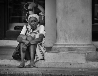 Ancient cuban woman