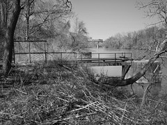 good mooring everyone (photography_isn't_terrorism) Tags: mooring moorings rust rusted rusty wv westvirginia bw river monriver monongahelariver