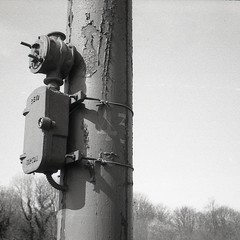 43 (OhDark30) Tags: olympus 35rc 35 rc 35mm film fomapan 200 rodinal 43 lamppost blackcountry livingmuseum museum dudley tram electric bclm