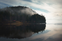 the back of beyond 2.0 (Fine Detail Films) Tags: sony mirrorless raw manual availablelight zeiss 35mm f28 fe za lightroom manualprocess colour color cinematic splittone nature fog cabins canimlake britishcolumbia dreamscape visions hyperreality art fineart arttrumpsmoney sonnartfe2835