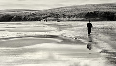 Magic Beach (scrimmy) Tags: scotland shetland stniniansisle beach seashore sand blackandwhite monochrome toned outdoors