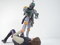 Han Solo vs Boba Fett (Matheus RFM) Tags: starwars shfiguarts revoltech kaiyodo bobafett hansolo