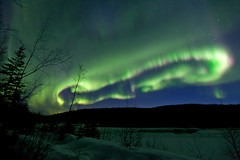 042017 - A Lasso of formed of Aurora Borealis (Nathan A) Tags: alaska ak fairbanks salcha northstar river spring cold ice snow night aurora auroraborealis northernlights nightsky stars farnorth geomagnetic green nature outdoors beauty skygazing