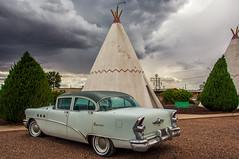 Wigwam motel, Holbrook (philippe*) Tags: holbrook arizona classiccars wigwam motel route66
