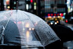 Sudden Rain (Anne Ullmann) Tags: rain regen tokyo tokio japan umbrella schirm regenschirm raindrop drops raindrops cold wind windy ikebukuro