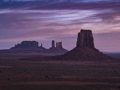 Sunrise at Monument Valley (Michael Zahra) Tags: usa america arizona utah southwest landscape hike hiking nature travel tourism 645 645z pentax ricoh navajo monumentvalley valleyofthegods sunrise sunset mediumformat sky clouds purple