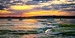 Wickor Point (Solent Poster) Tags: pentax k1 2470mm wickor point sunset sunrise landscape seascape emsworth harbour low tide april 2017 mud channel
