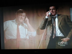 Typical Holographic Phone Conversation Mannix 4673 (Brechtbug) Tags: mike connors joe mannix phone with holographic apparition judge 1960s 1970s 60s 70s tv show episode 04222017 nyc metv new york city 2017 ghost anti split screens screen grab screengrab conversation fictitious bogus silly transparent