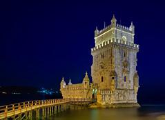 Torre de Belem at night (Stuck in Customs) Tags: stuckincustomscom treyratcliff hdr x1d lisbon portugal night lights blue water 80stays rcmemories interflixcontest airnzphotocontest