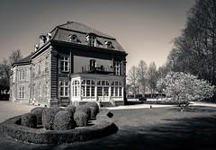 Prince House, Plön Castle (claudia.kiel) Tags: plön schloss castle schlosspark castlepark princehouse gebäude building architektur architecture magnolie magnolia sepia monochrome einfarbig