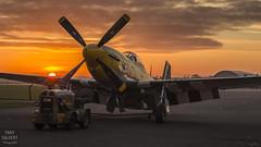 P-51 Mustand Sunset (Tony Calvert) Tags: p51 mustang north american sunset duxford iwm