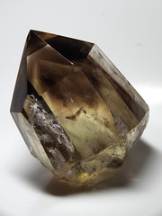 Smoky Citrine with ghost pyramid (Opal in the rough) Tags: rock mineral specimen collection crystal