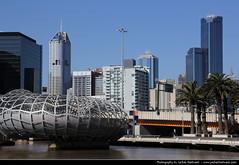 Skyline seen from Docklands, Melbourne, Australia (JH_1982) Tags: bridge skyline river cityscape view australia melbourne victoria yarra docklands vic australien webb australie austrlia   australi