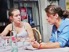 2014-08-30  Paris - Del Papa - 38 Rue de Buci (P.K. - Paris) Tags: street people café french terrace outdoor pavement candid drinking terrasse sidewalk openair 2014 terrazza