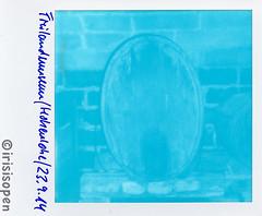 Fass # barrel # Polaroid_Impossible_Cyanograph600 - ImpulseAF - 23-09-2014 (irisisopen f/8light) Tags: color polaroid 600 af impossible impulse cyanograph