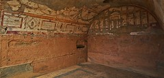 Ancient room, Ephesus Terrace Houses (Mark Tindale) Tags: houses building history stone architecture turkey painting ancient roman terrace lion housing vault walls archeology fresco ephesus dwelling arched mosain