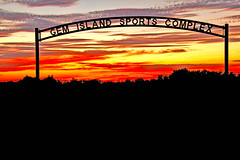 Beautiful Sunset And Emmett Sport Comples (http://fineartamerica.com/profiles/robert-bales.ht) Tags: bridge trees sunset red summer usa southwest beauty silhouette yellow horizontal sunrise wow spectacular landscape photo arch baseball superb soccer awesome fineart scenic surreal peaceful panoramic idaho sensational softball inspirational spiritual sublime sunrisesunset magical tranquil emmett magnificent inspiring haybales stupendous layered sportcomplex sunsetphotography canonshooter treasurevalley gemcounty idahophotography emmettvalley robertbales gemcountyphotography