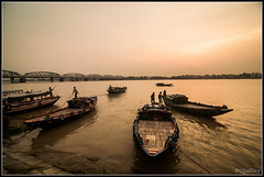 Evening ~ EXPLORED #24 (24-Sep-2014) (ujjal dey) Tags: evening boat kolkata boatman ujjal hooghlyriver dakshineswar ujjaldey