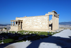The Erechtheion (view from south with Parthenon shadow)