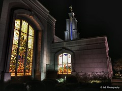 stained glass and spire (elnina999) Tags: building tower church water fountain statue angel night sanantonio religious temple gold nokia heaven texas christ tx hill religion jesus entrance belief stainedglass steeple christian believe sacred mormon 1020 lds brilliant eternal edifice lumia despain rekindle nokian8 texastemple