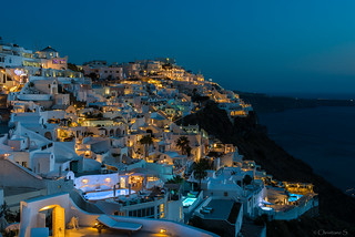 Greece,Santorini , after sunset