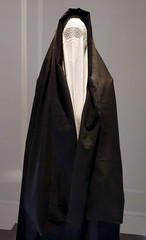 Through the Veil (cowyeow) Tags: travel history fashion israel clothing display muslim islam faith jerusalem religion middleeast belief exhibit creepy jewish judaism tradition superstition apparel dresscode israelmuseum womansfashion jewishclothing dresscodesrevealingthejewishwardrobe jewishfashion